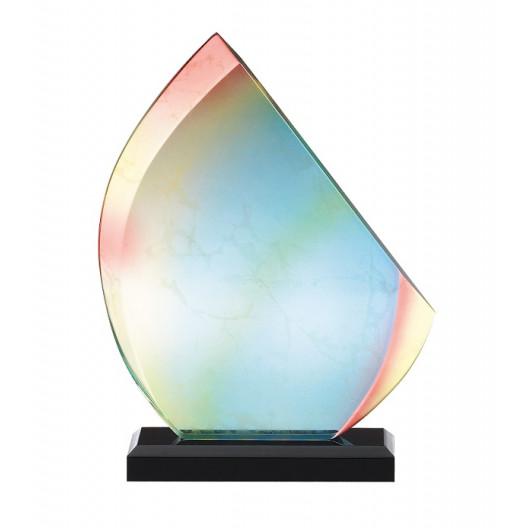 Hand-crafted Rainbow on Black Base Award