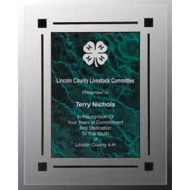 Marble Acrylic Clear-Plaq