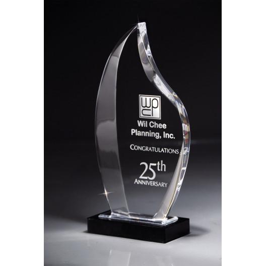 Deep Bevel Nile Award on Black Marble Base