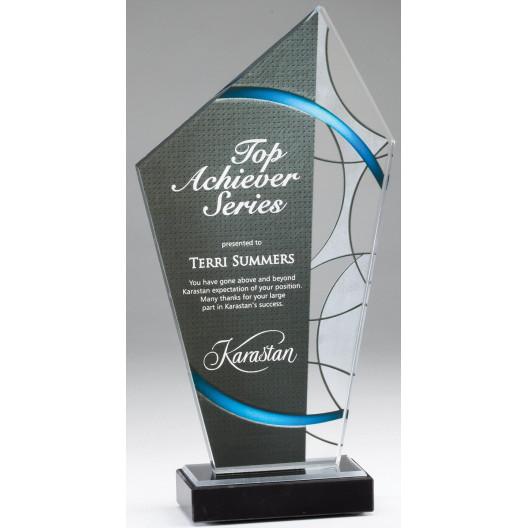 Elegant Stained Glass Acrylic Award