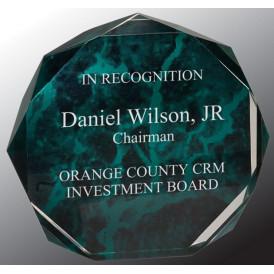 Marble Octagon Acrylic Award