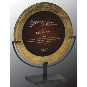 Round Acrylic Art Plaque with Iron Stand
