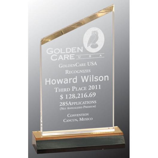 Gold Reflection Beveled Peak Acrylic