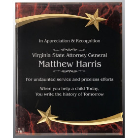Marble Shooting Star Acrylic Plaque