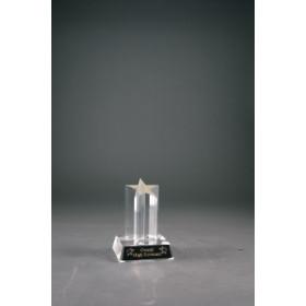 """5"""" Clear Single Star Column Acrylic with Clear Base"""