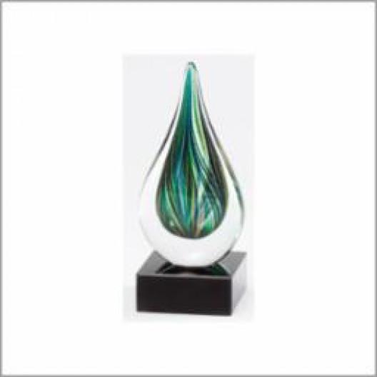 """Green Art Glass 7"""" Drop"""