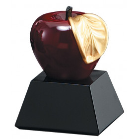 Gold Leafed Apple Resin