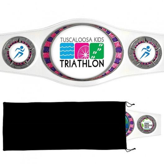 Bright Silver Championship Award Belt