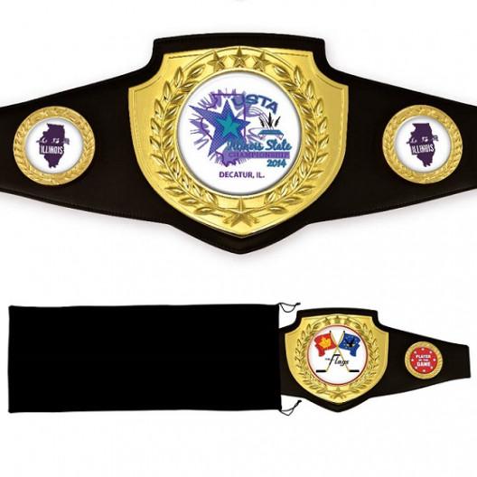 Bright Gold Championship Shield Award Belt