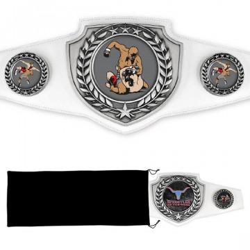 Antique Silver Championship Shield Award Belt