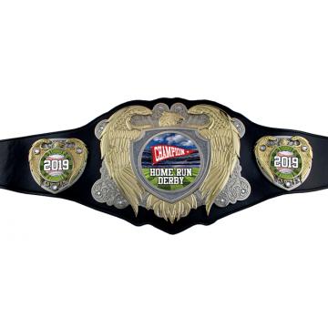 Bright Gold Legion Award Belt w/ Black Leather