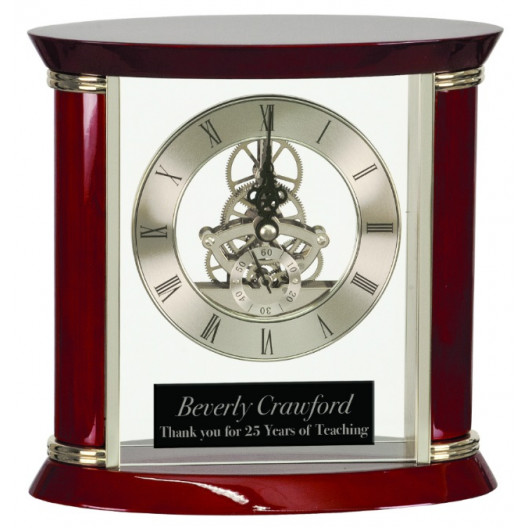 Executive Rosewood Piano Finish Clock