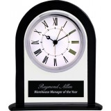 Black & Clear Glass Arch Clock
