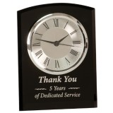 Black Glass Arch Clock, Self-Standing