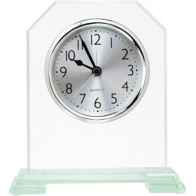Clipped Corner Glass Clock
