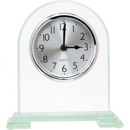 "Arch Glass Clock - 6.5"""