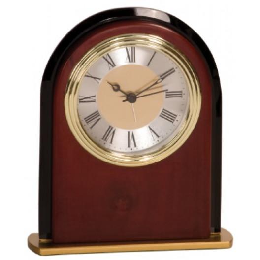 Mahogany Finish Arch Clock