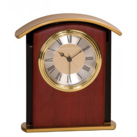 Mahogany Finish Gold Top Clock