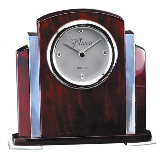 Rosewood Clock w/ Aluminum Accents