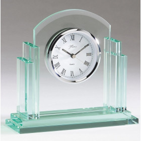 Round Glass Desk Clock