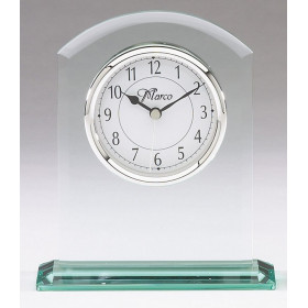 Arched Glass Table Clock