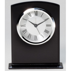 Black Glass Clock