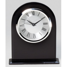 Black Glass Domed Clock
