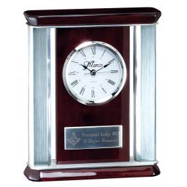 Rosewood Metallic Clock