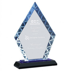 Diamond Accent Glass on Black or Blue Base