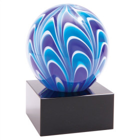 Two-Tone Blue & White Sphere