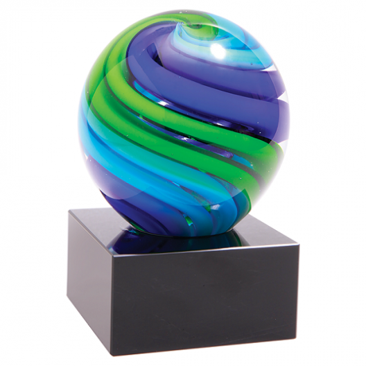 Two-Tone Blue & Green Sphere