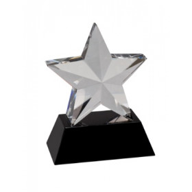 Crystal 3D Star on Black Base
