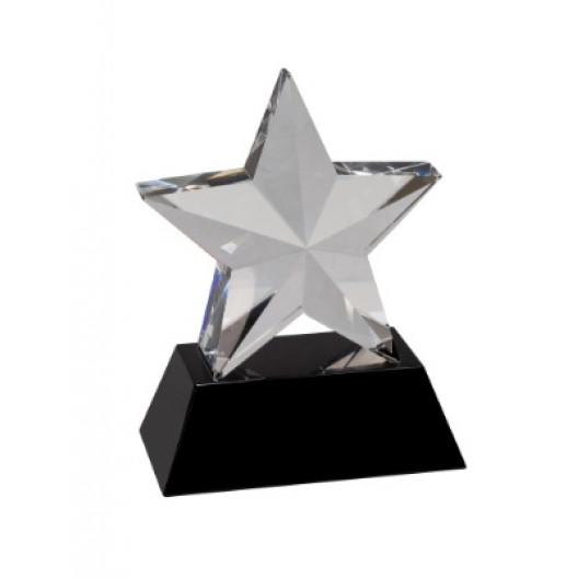 Crystal 3D Star on Black Base