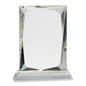 Crystal Rectangle on Clear Base