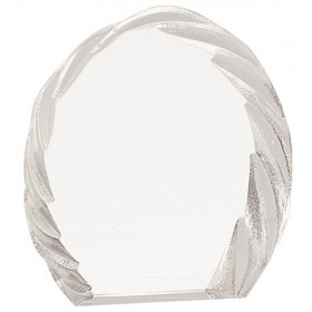 Oval Crystal with Decorative Edge