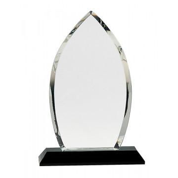 Clear Crystal Oval on Black Pedestal Base