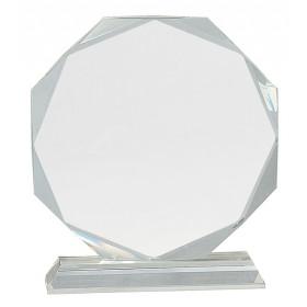 Clear Crystal Octagon on Clear Pedestal Base