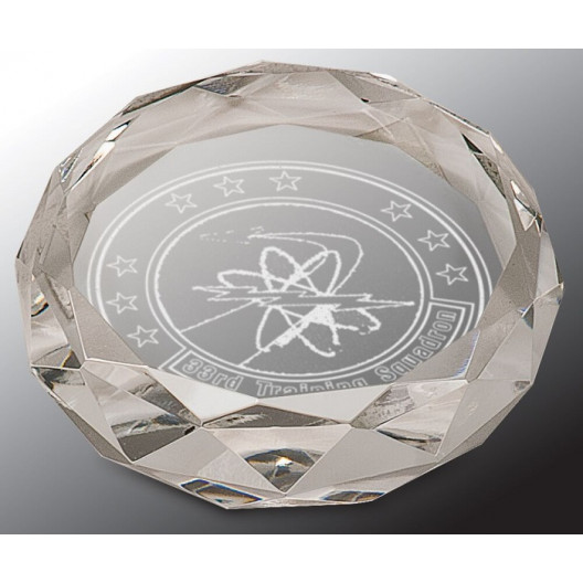 Clear Round Crystal Paperweight