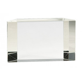 Clear Crystal Facet Block