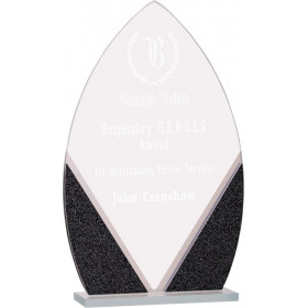 Oval Designer Glass Award