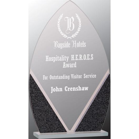 Oval Designer Glass Award