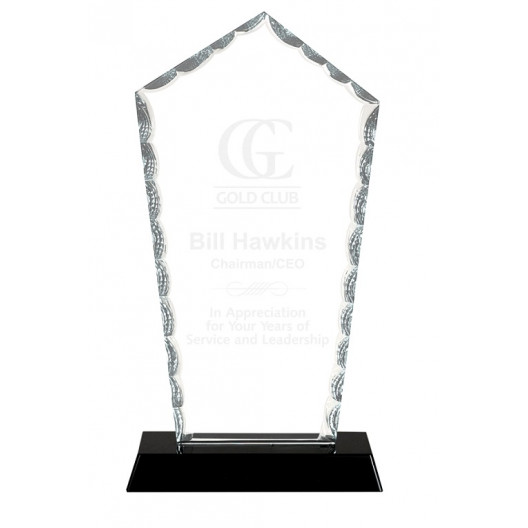 Diamond Facet Glass on Black Base