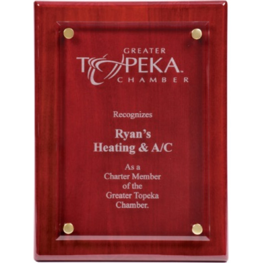 """10 1/2"""" x 13"""" Floating Glass Plaque"""