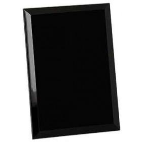 Black Glass Mirror Plaque