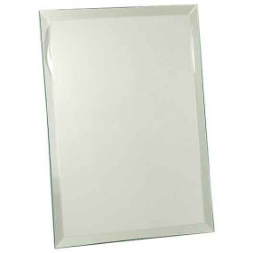 Clear Glass Mirror Plaque
