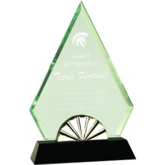 Diamond Horizon Glass with Black Base