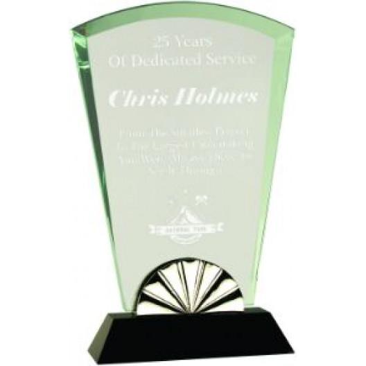 Fan Horizon Glass with Black Base