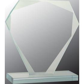 Cut Diamond Jade Glass Award