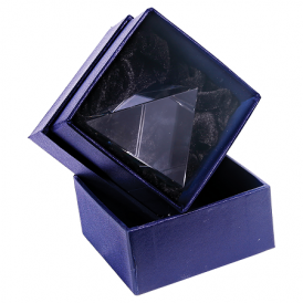 Diamond Halo Glass with Black or Blue Base
