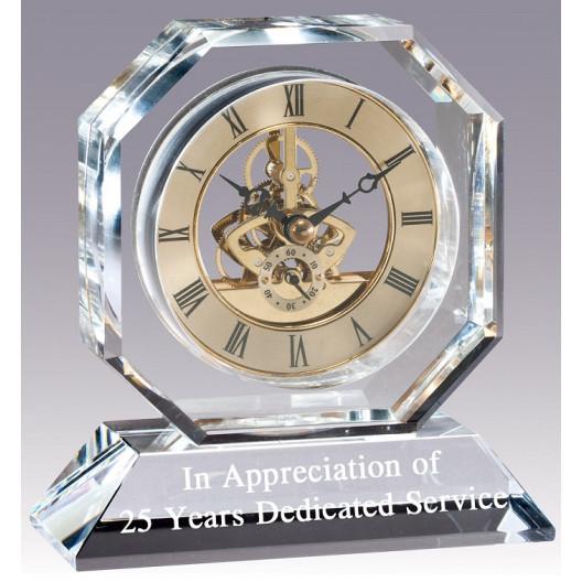 Octagon Crystal Clock